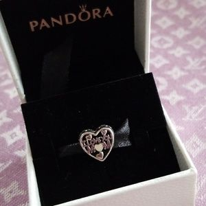 PANDORA Love For Mother Charm Silver enamel